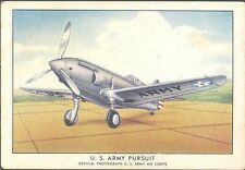 Brown & Williamson - Modern American Airplanes, Series B - 17 - US Army Pursuit