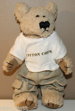 "9"" Cotton Corps Plush Teddy Bear Doll with Articulated Joints Khaki Pants"