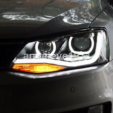 LED U style Angel Eyes Lights For VW Jetta MK6 LED Head Lamps 2011-2015 year TLZ