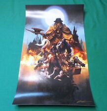 "Bloodborne A Hunter Must Hunt Lithograph (14 x 24"") Signed Art Print Poster #34"