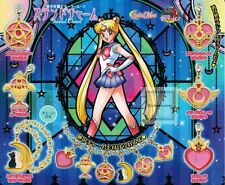 SAILOR MOON STAINED CHARM SET COMPLETO 6 PZ.  BANDAI (LUNA/ARTEMIS/COSMIC HEART)