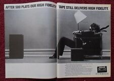 1980 Print Ad Maxell FIDELITY Cassette Tape ~ Man in a Chair BLOWN AWAY 2-PAGE