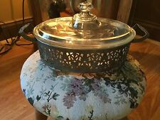 Art Deco Very Rare Pyrex with Ornate Metal holder Marked, and in Mint condition