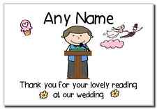 Thank You For Doing A Reading At Our Wedding Boy  Personalised Magnet