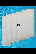 Fluval 205 filters foam pads for external 204,205,304,305 fish tank aquarium x 4