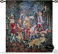 "Beautiful Hunt of Unicorn Medieval Tapestry Jacquard Woven Wall Hanging 23""x 32"""