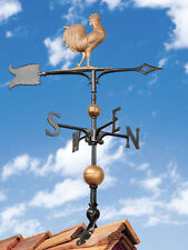 Rooty the Rooster-Chicken Weathervane Copper Color 2.5 ft tall FREE mount