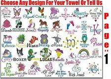 Personalized Bath/Beach Towel with FREE Custom Embroidery
