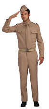 WW2 PRIVATE #SOLDIER MILITARY ARMY MAN ADULT ONE SIZE FANCY DRESS COSTUME