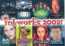 INKWORKS 2002 SAN DIEGO COMIC CON PROMO PACK HEADER CARD ONLY INK-2002