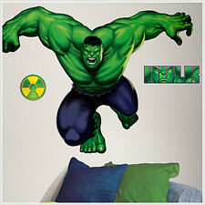 INCREDIBLE HULK wall stickers! MURAL Marvel decal room decor 33x45 inches big