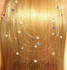 HAIR EXTENSION - SWAROVSKI CRYSTAL /PEARL JEWELLERY SET