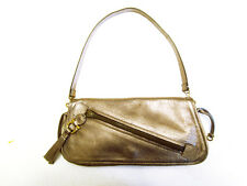 SALVATORE FERRAGAMO Beautiful Shoulder Bag / Purse Bronze Nappa Kid Leather