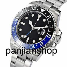 Sapphire Glass Blue GMT Ceramic Bezel 43mm Parnis  Men's Date Automatic Watch