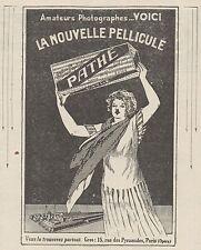 Z8768 PATHE' la nouvelle Pellicule - Pubblicità d'epoca - 1925 Old advertising