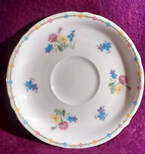 Shelley Wildflowers 12631 Saucer Green Trim - 8 available - Super Condition