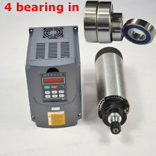 TOP FOUR BEARING 1.5KW AIR-COOLE SPINDLE MOTOR ER16 & 1.5kw INVERTER VFD FOR CNC