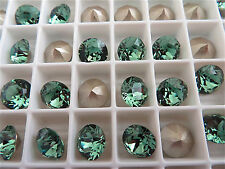 12 Erinite Foiled Swarovski Crystal Chaton Stone 1088 39ss 8mm