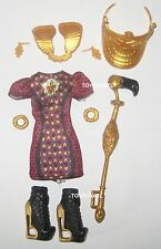 Ever After High TriCastleOn 3 Pack Lizzie Hearts Doll Outfit Clothes Dress Shoes