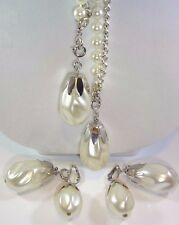 """SARAH COVENTRY 1974 """"ON STAGE"""" Versatile Necklace & Earring Set 2 Extra FX Pearl"""