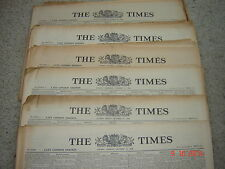 The Times Newspaper 2nd 5th 8th 9th 10th 11th 13th 15th 17th 18th January 1940