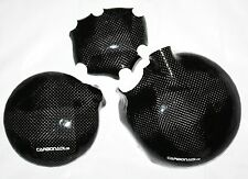 Kawasaki zx6r 98-99 3x carbon embrague tapa lima tapa set carbone cover