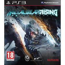 PS3 Metal Gear Rising Revengeance NUOVO + Custodia STEELBOOK in OMAGGIO