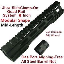 """223 9"""" Ultralight Free Float Handguard Forend W Steel Nut Black US SELLER"""