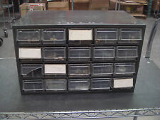 Akro-Mills Used 20 Drawer Parts Cabinet with Misc. Parts (Connectors, etc....)