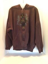 West Coast Choppers L Large (42-44) Brown Hoodie Long Sleeve Graphics