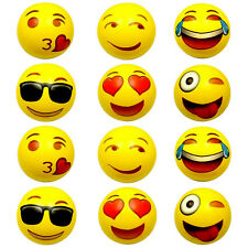 New 12pcs Emoji 12 inch Inflatable Beach Balls Super Cute Beach Toys for Kids
