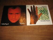 Lot of 2 vinyl Record Genesis Invisible Touch & Phil Collins No Jacket Required