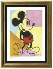 "Andy Warhol Signed/Hand-Numbrd Ltd Edition ""Mickey Mouse"" Litho Print (unframed)"