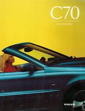 Volvo C70 Convertible 1997 UK Market Launch Foldout Sales Brochure 2.5T T5