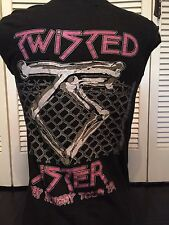 Vintage Twisted Sister 84 Tour Shirt Sz M/L Heavy Metal Rock Glam Dee Snider 666