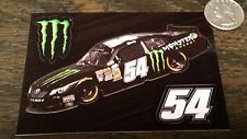 Genuine MONSTER ENERGY NASCAR #54 KYLE BUSH 3pc Sticker Sheet Car Window Decals
