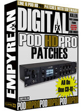 Line 6 POD HD Pro Patches Guitar Effects Presets Amp Tone Artist Settings Line6