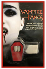VAMPIRE FANGS CAPS TEETH HALLOWEEN MAKEUP FANCY DRESS DRACULA ADULTS FUN TIMES