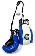 El Salvador Mini Boxing Gloves Car Flag Decoration Mirror Hanging Ornament