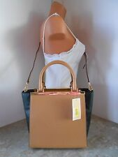 MICHAEL KORS Lana Medium Leather Tote/Crossbody Bag NWT $358 SUNTAN/BLACK
