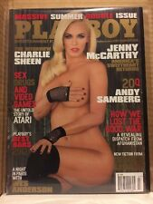 Playboy Magazine July/August 2012 Jenny McCarthy LIKE NEW!!  Charlie Sheen