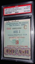 1962 WORLD CUP WEST GERMANY VS CHILE UWE SEELER GOAL #4 MATCH #18 TICKET PSA