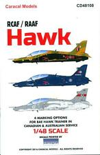 Caracal Decals 1/48 BAe HAWK Canadian and Australian Service