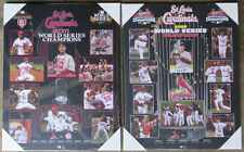 Pair of St. Louis Cardinals World Series Championship Picture Plaques 2011, 2006