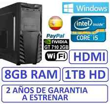 PC Ordenador Sobremesa i5 8GB RAM 1 TB HD , HDMI GT710 2GB, WIFI , WINDOWS,