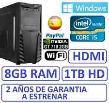 Ordenador Sobremesa i5 8GB RAM 1 TB HD, HDMI GT710 2GB,WINDOWS