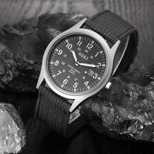 Military Army Men's Date Canvas Band Stainless Steel Sport Quartz Wrist Watches