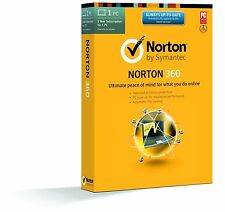 Norton 360, 2016 v22.0, 1 PC Users,6 months Retail License- Limited Stock -NO CD