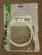 CABLESYS 3FT CAT5e Cable Ethernet CAT5 RJ45 Patch Cord W/SR Internet White