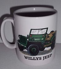 BN Willys Jeep Military Vehicle Stoneware Mug Uk Seller Collectable